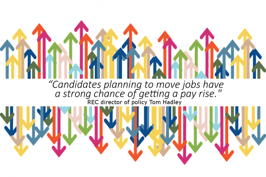 Candidates planning to move jobs have a strong chance of getting a pay rise