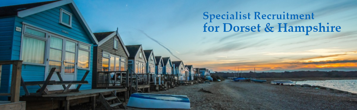 Specialist recruitment for Dorset & Hampshire - Beach huts at Hengistbury Head