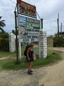 Francesca on her career break in Samoa